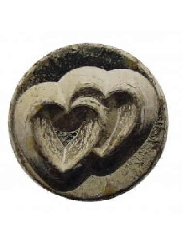 Metal stamp double heart